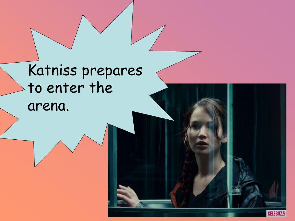 Katniss prepares to enter the arena.