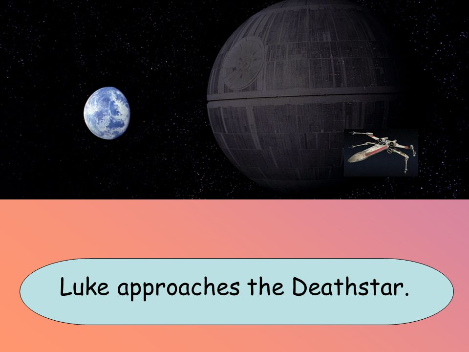 Luke approaches the Deathstar.
