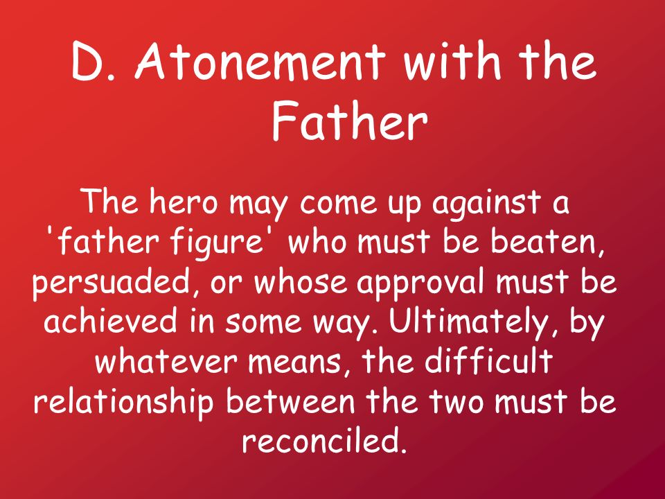 D. Atonement with the Father