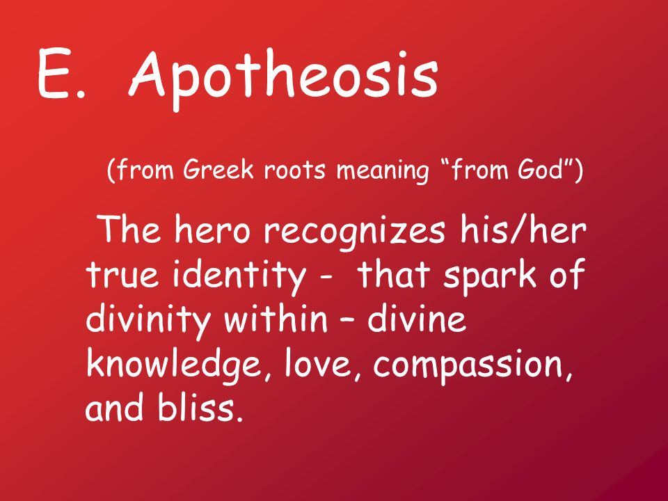 (from Greek roots meaning from God )
