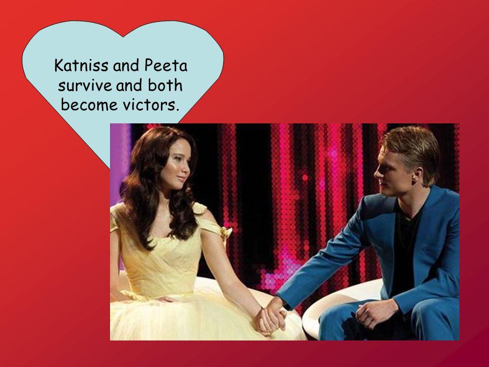 Katniss and Peeta survive and both become victors.