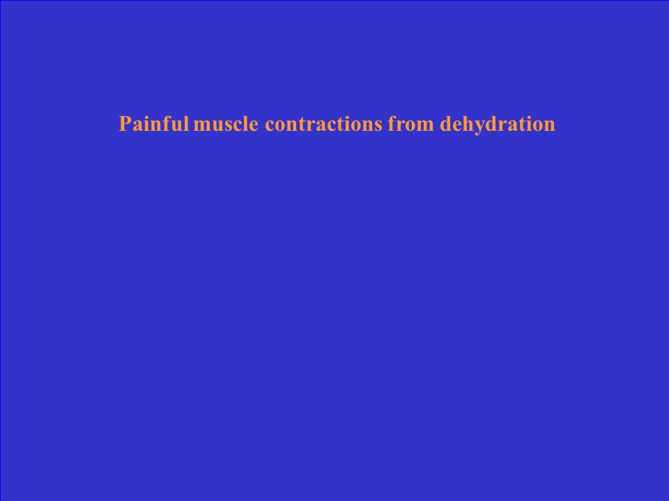Painful muscle contractions from dehydration