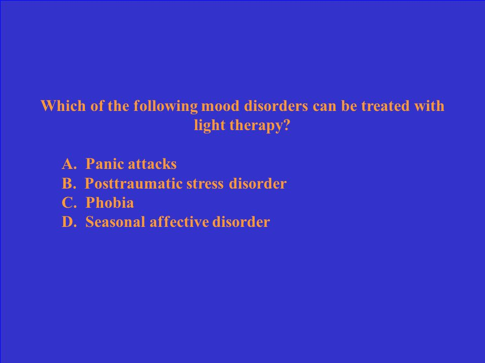 Which of the following mood disorders can be treated with light therapy