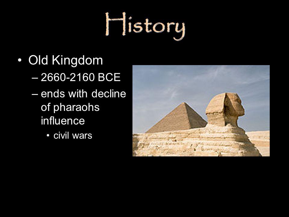 History Old Kingdom 2660-2160 BCE