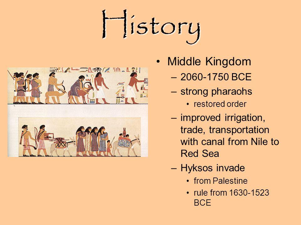 History Middle Kingdom 2060-1750 BCE strong pharaohs