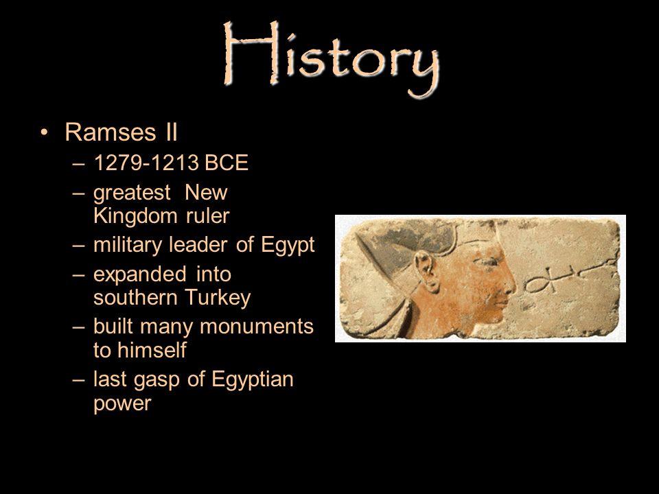 History Ramses II 1279-1213 BCE greatest New Kingdom ruler