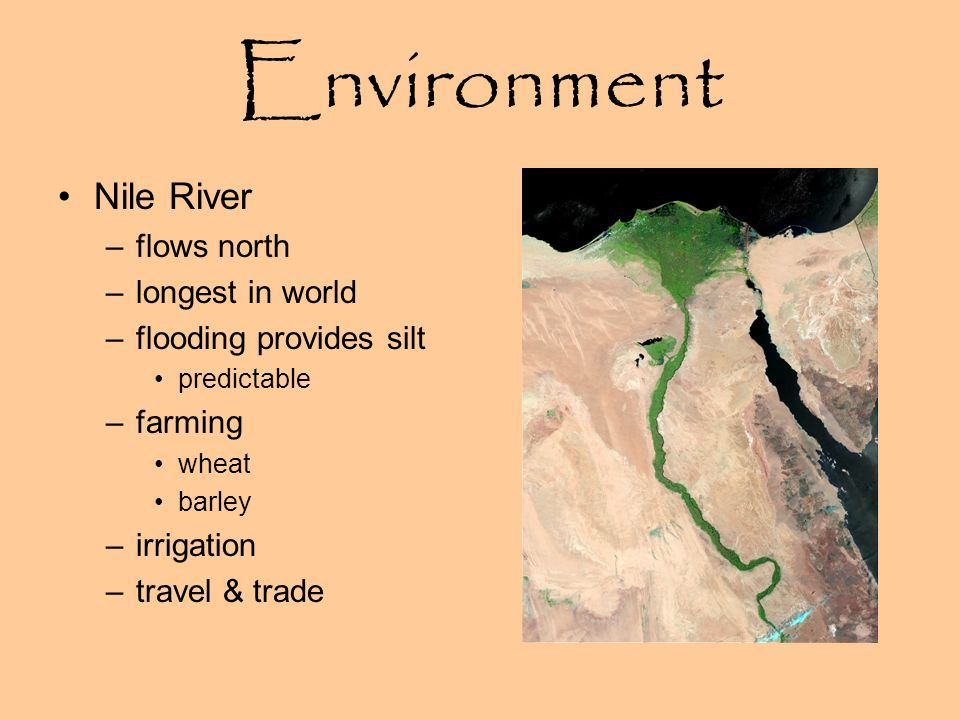 Environment Nile River flows north longest in world
