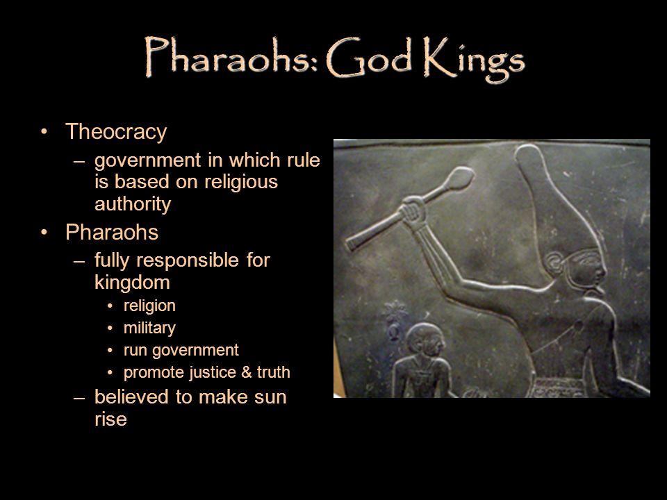 Pharaohs: God Kings Theocracy Pharaohs