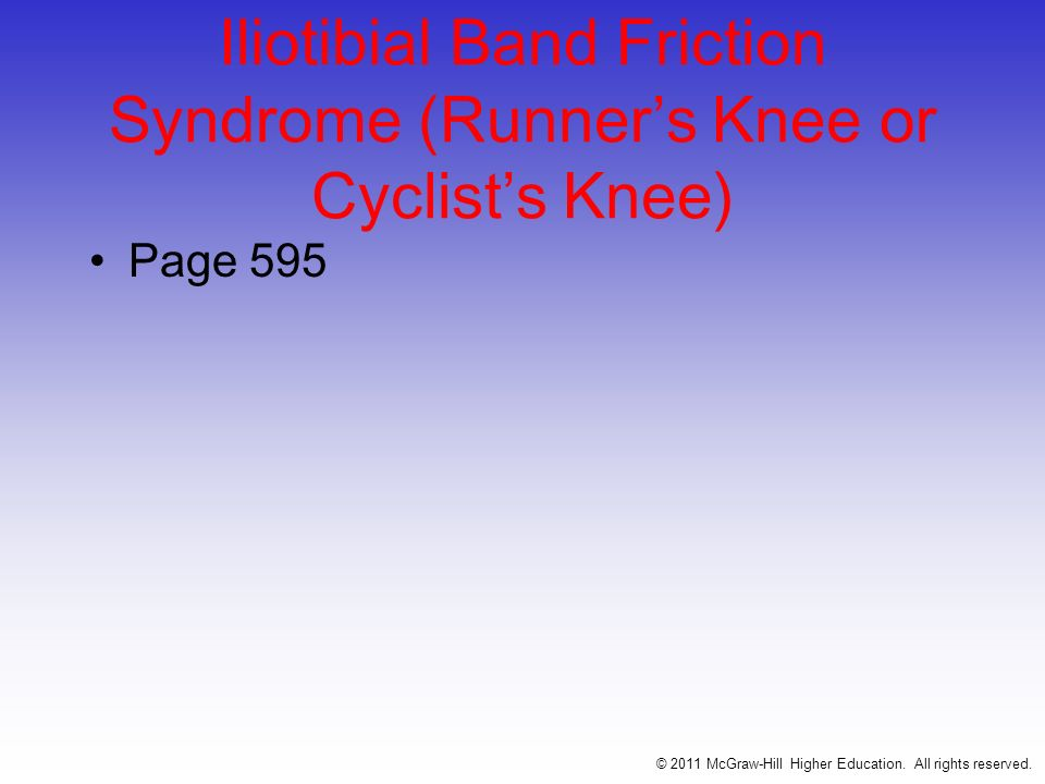Iliotibial Band Friction Syndrome (Runner's Knee or Cyclist's Knee)
