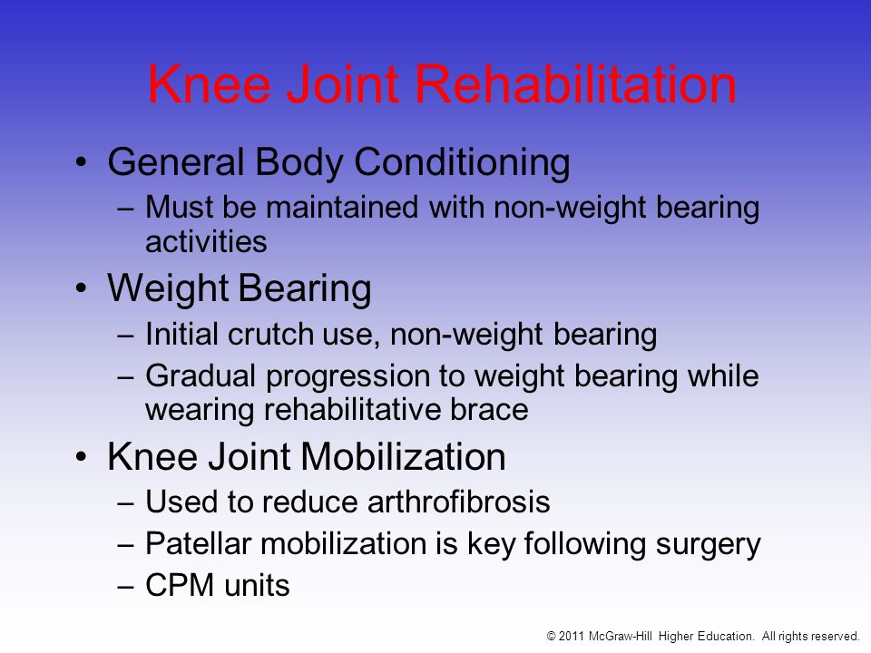 Knee Joint Rehabilitation