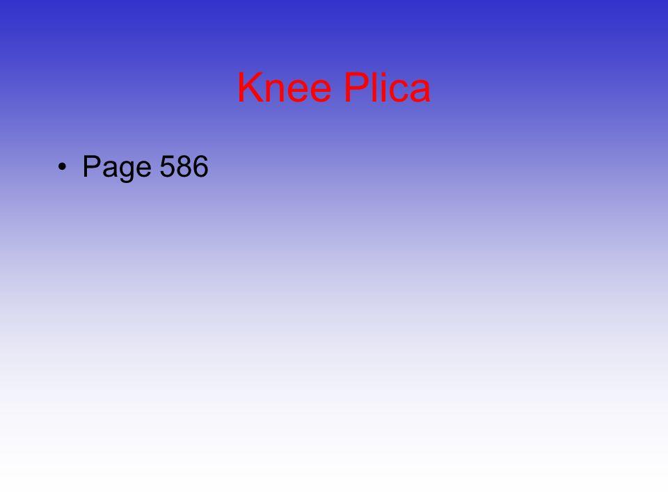 Knee Plica Page 586