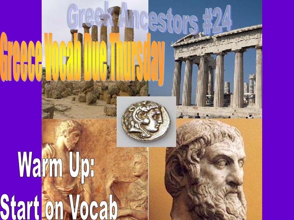 Greece Vocab Due Thursday