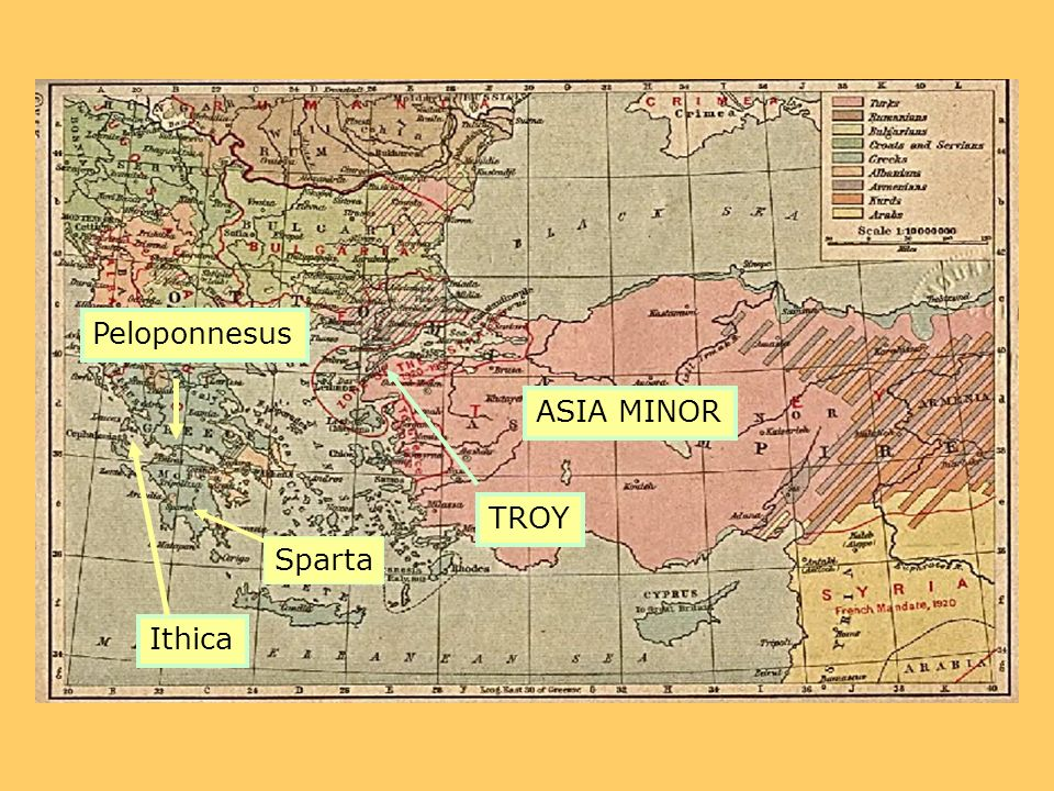 ASIA MINOR TROY Sparta Peloponnesus Ithica
