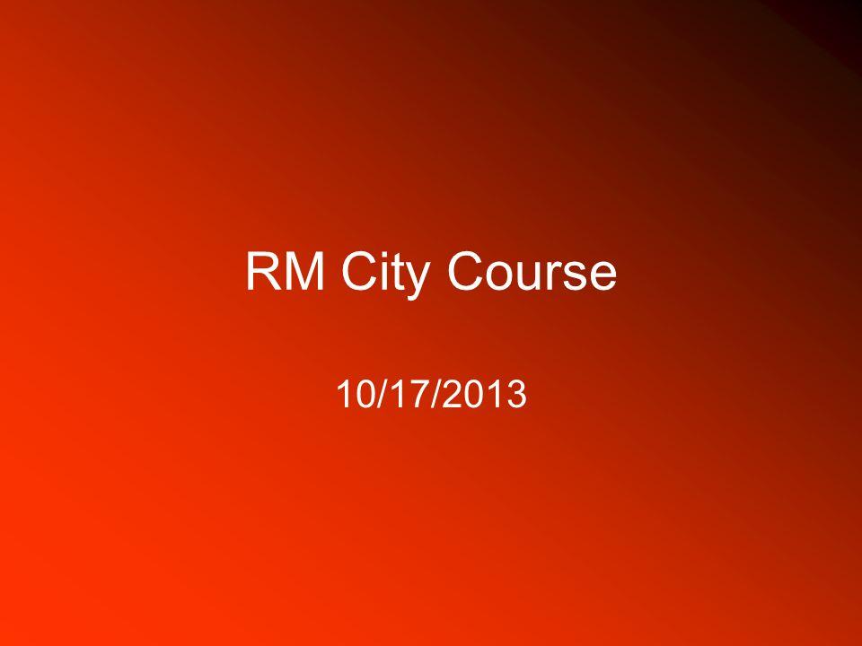 RM City Course 10/17/2013