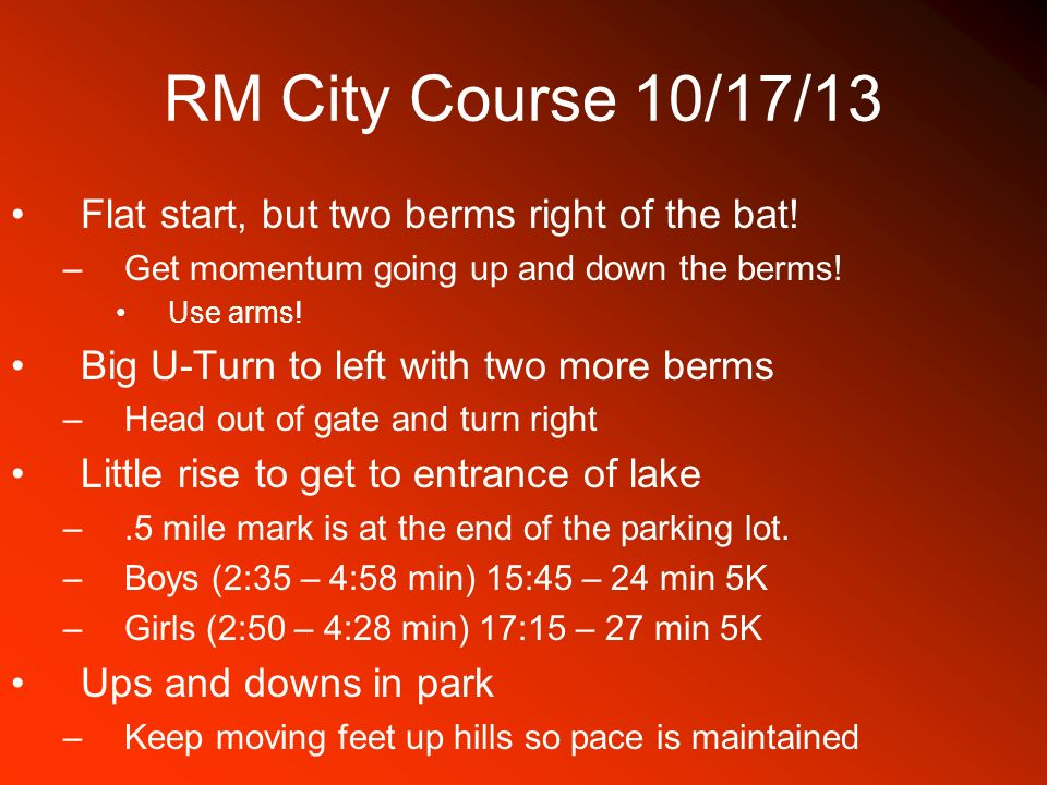 RM City Course 10/17/13 Flat start, but two berms right of the bat!