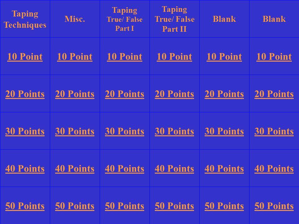 10 Point 10 Point 10 Point 10 Point 10 Point 10 Point 20 Points