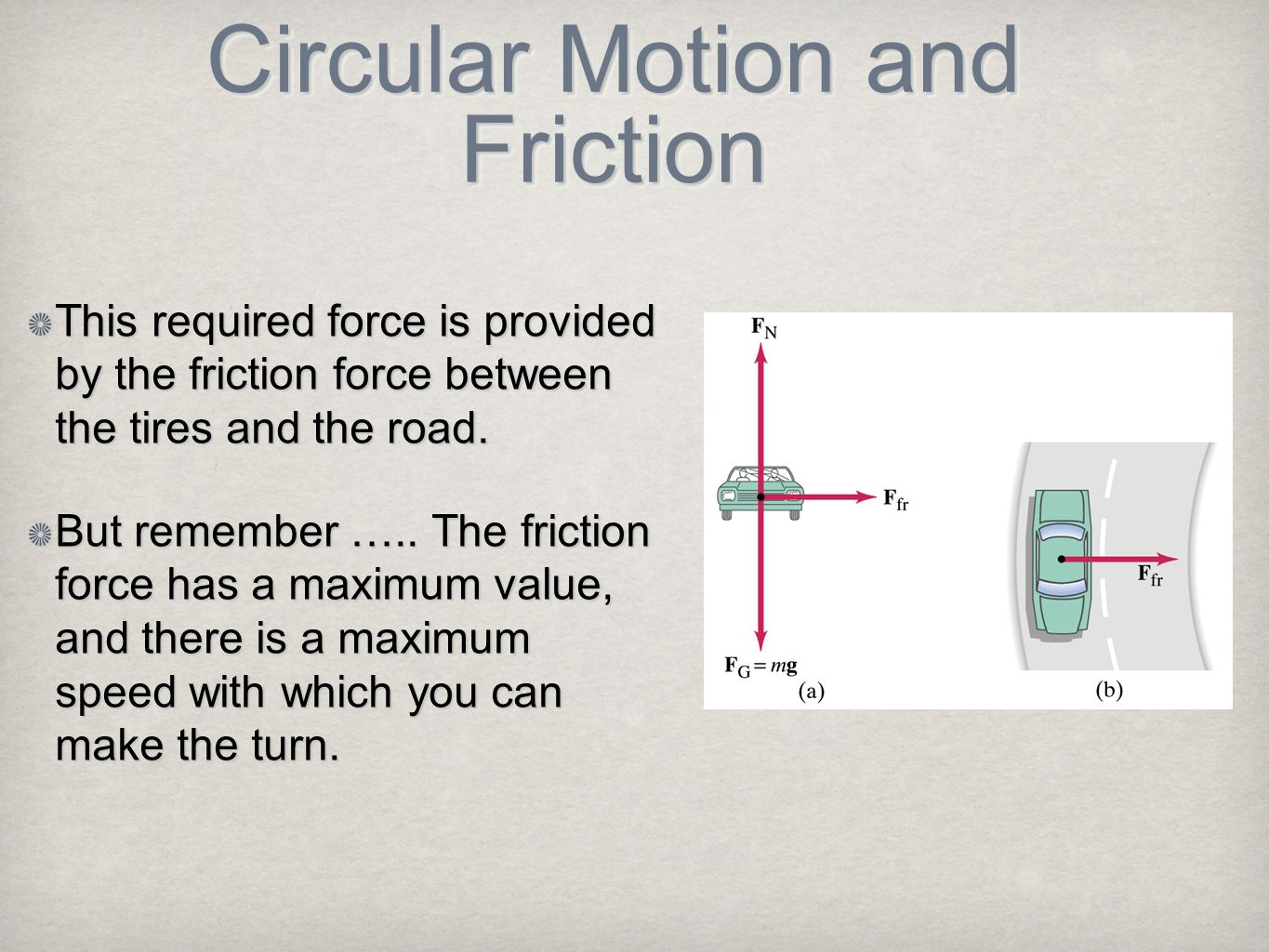 Circular Motion and Friction