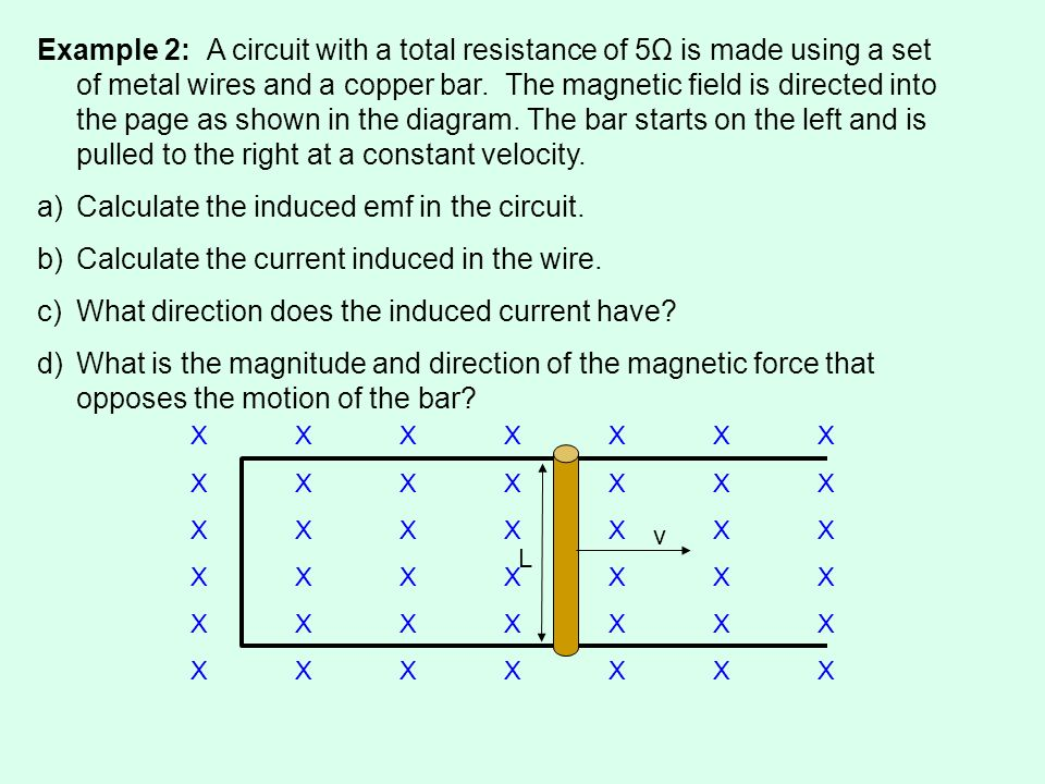 Calculate the induced emf in the circuit.