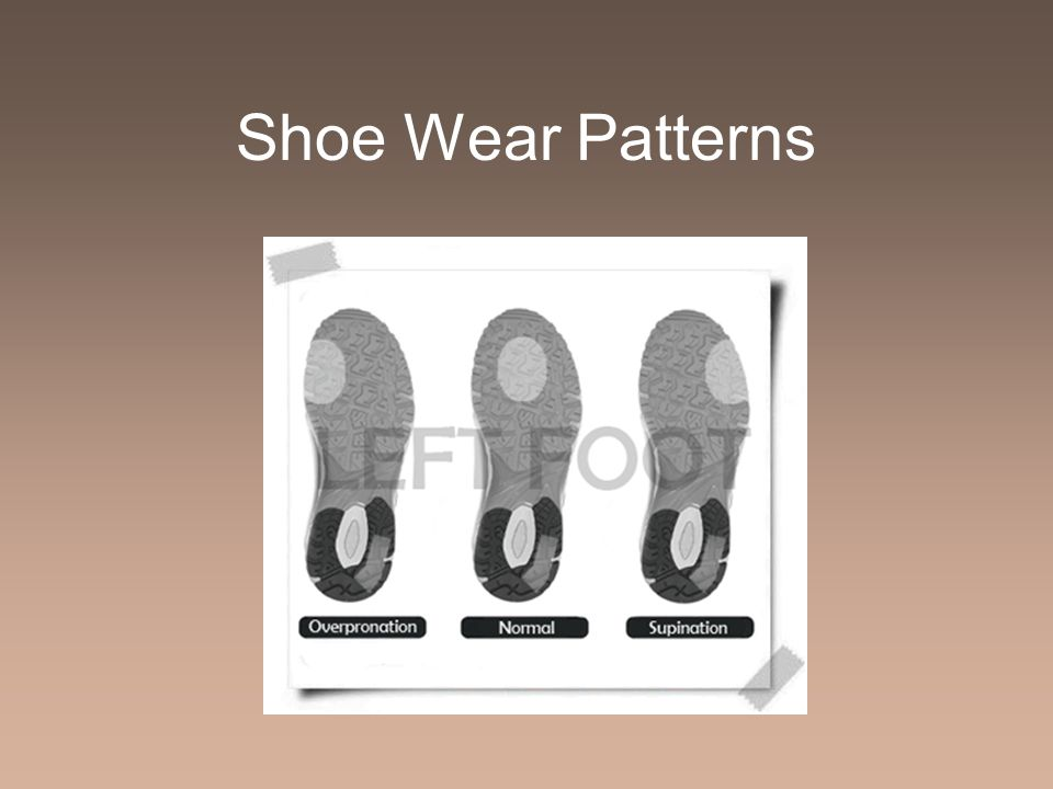 Shoe Wear Patterns