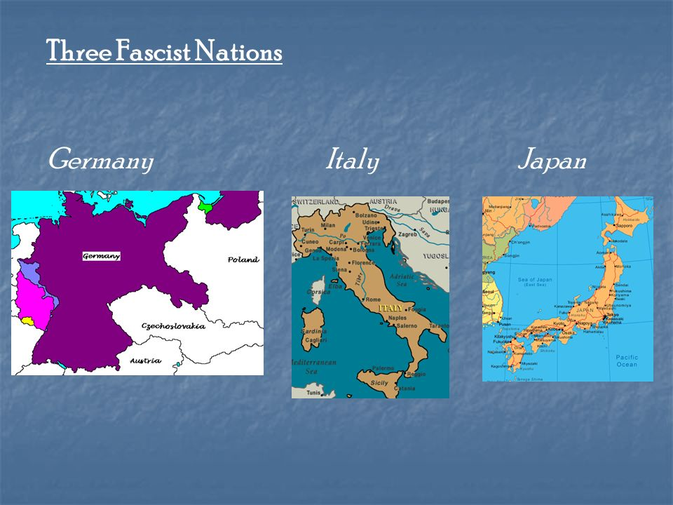 Three Fascist Nations Germany Italy Japan