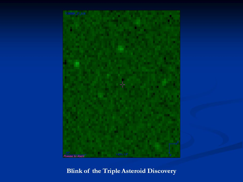 Blink of the Triple Asteroid Discovery