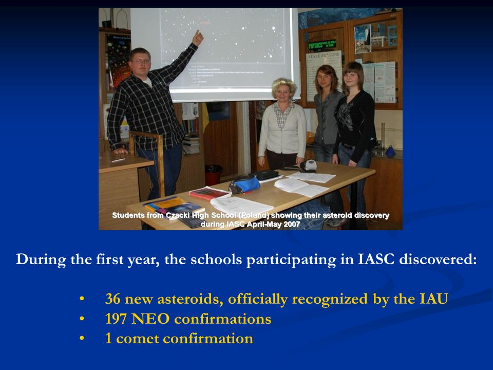 During the first year, the schools participating in IASC discovered: