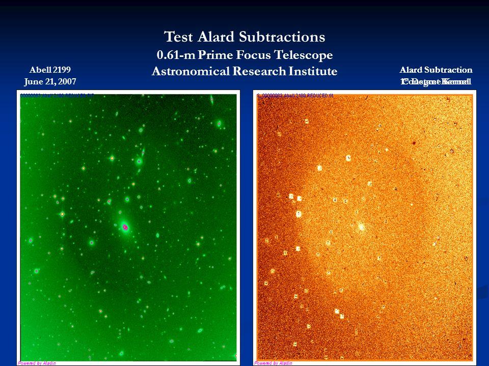 Test Alard Subtractions