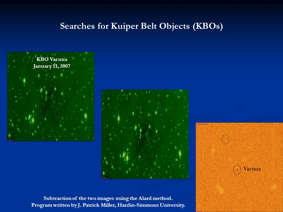 Searches for Kuiper Belt Objects (KBOs)