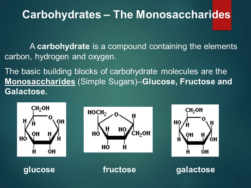 Carbohydrates – The Monosaccharides
