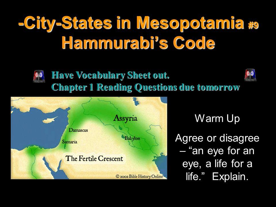 -City-States in Mesopotamia #9 Hammurabi's Code