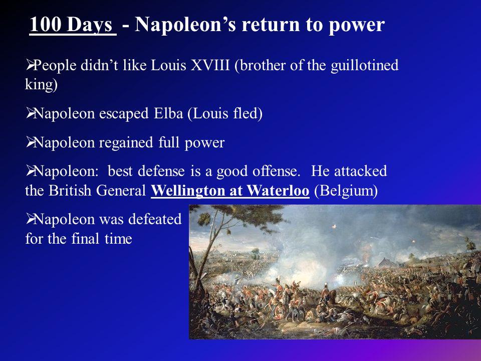 100 Days - Napoleon's return to power