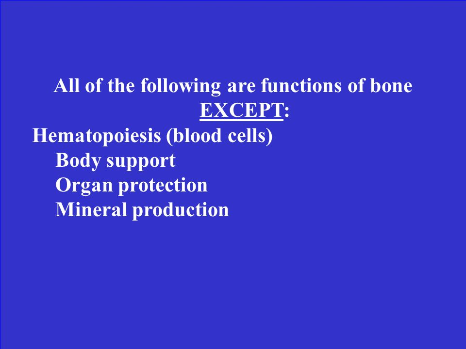 All of the following are functions of bone EXCEPT: