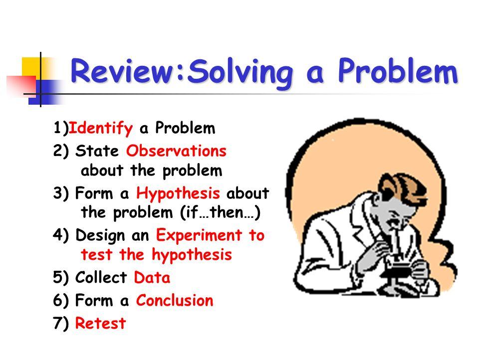 Review:Solving a Problem