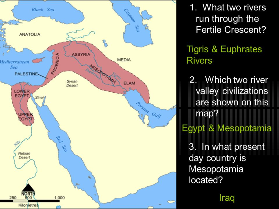 1. What two rivers run through the Fertile Crescent