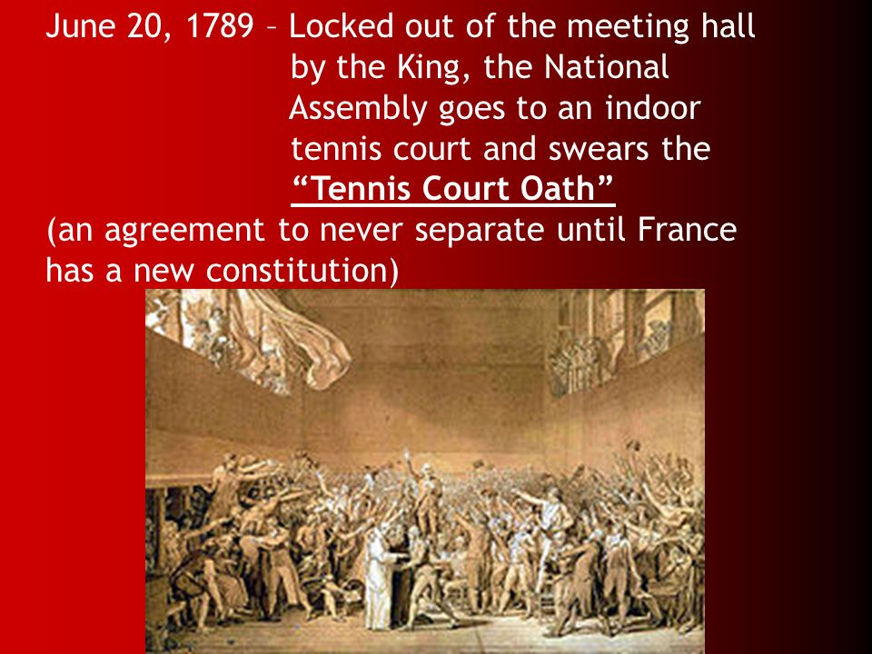 June 20, 1789 – Locked out of the meeting hall