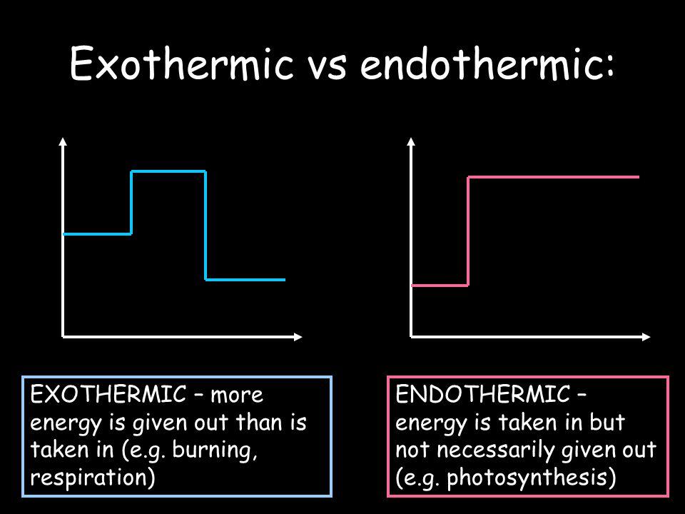 Exothermic vs endothermic: