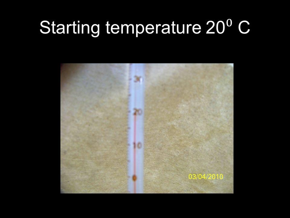 Starting temperature 20⁰ C