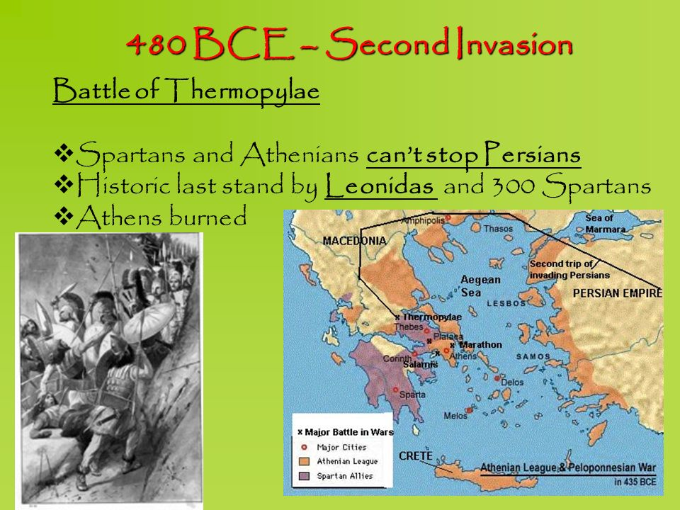 480 BCE – Second Invasion Battle of Thermopylae