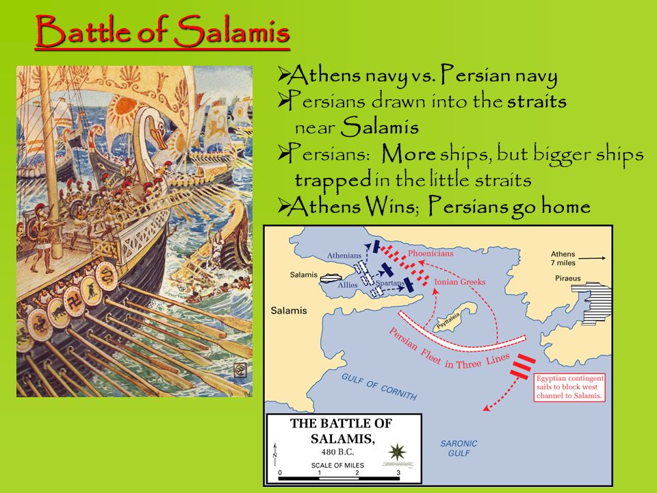 Battle of Salamis Athens navy vs. Persian navy