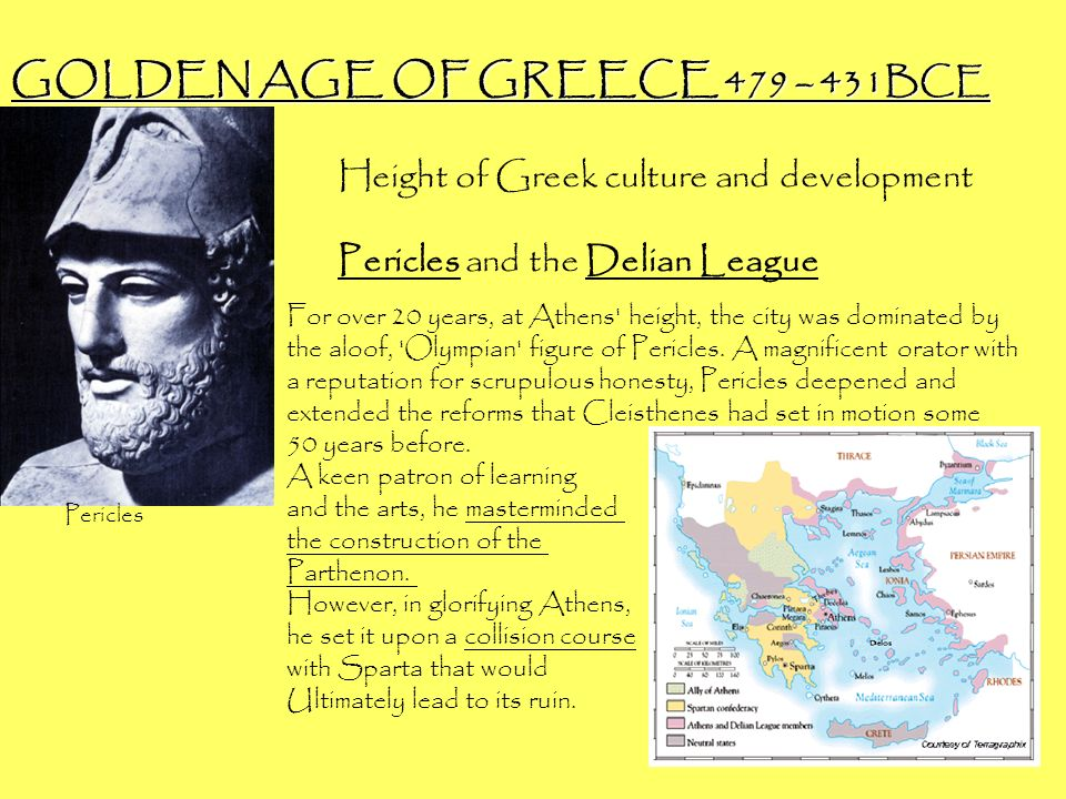 GOLDEN AGE OF GREECE 479 – 431BCE