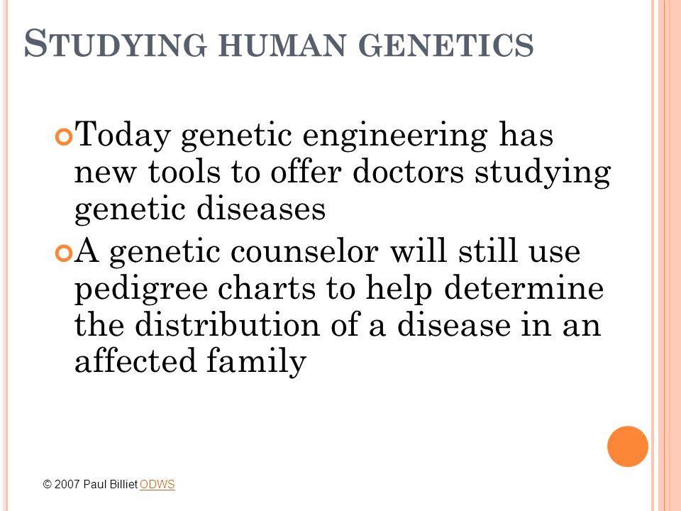 Studying human genetics