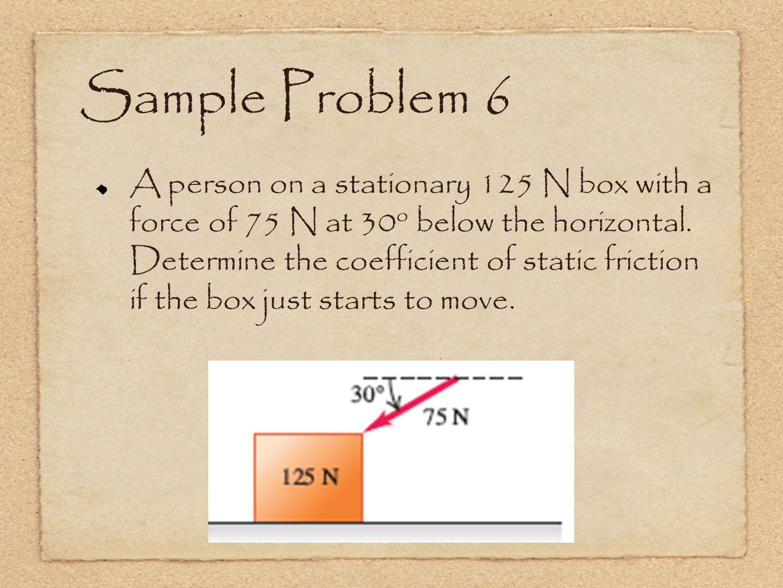 Sample Problem 6