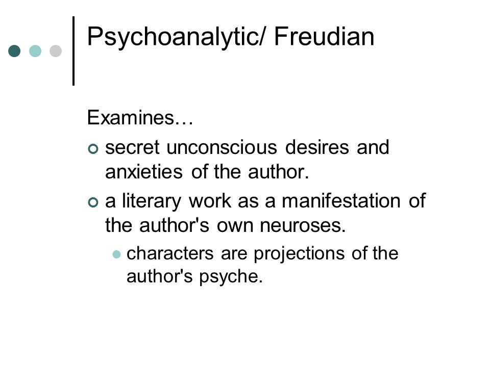 Psychoanalytic/ Freudian