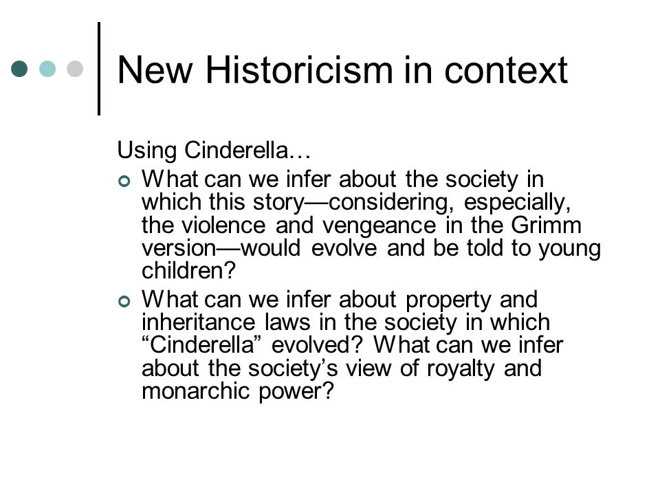 New Historicism in context