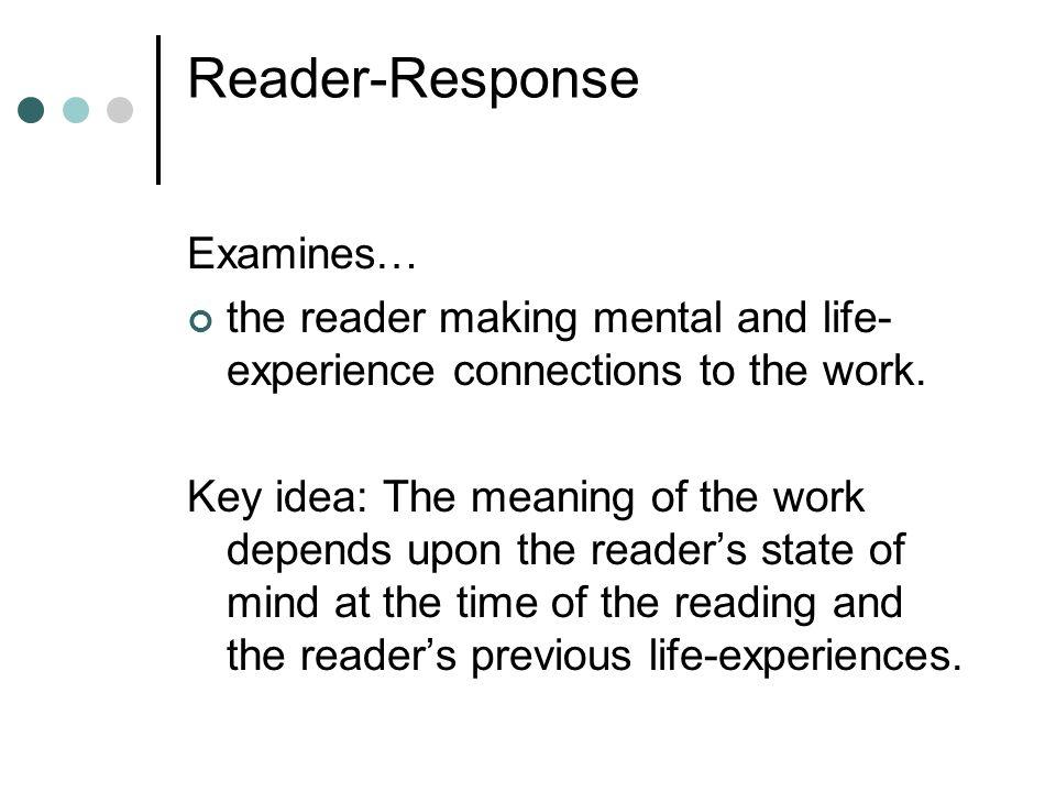 Reader-Response Examines…