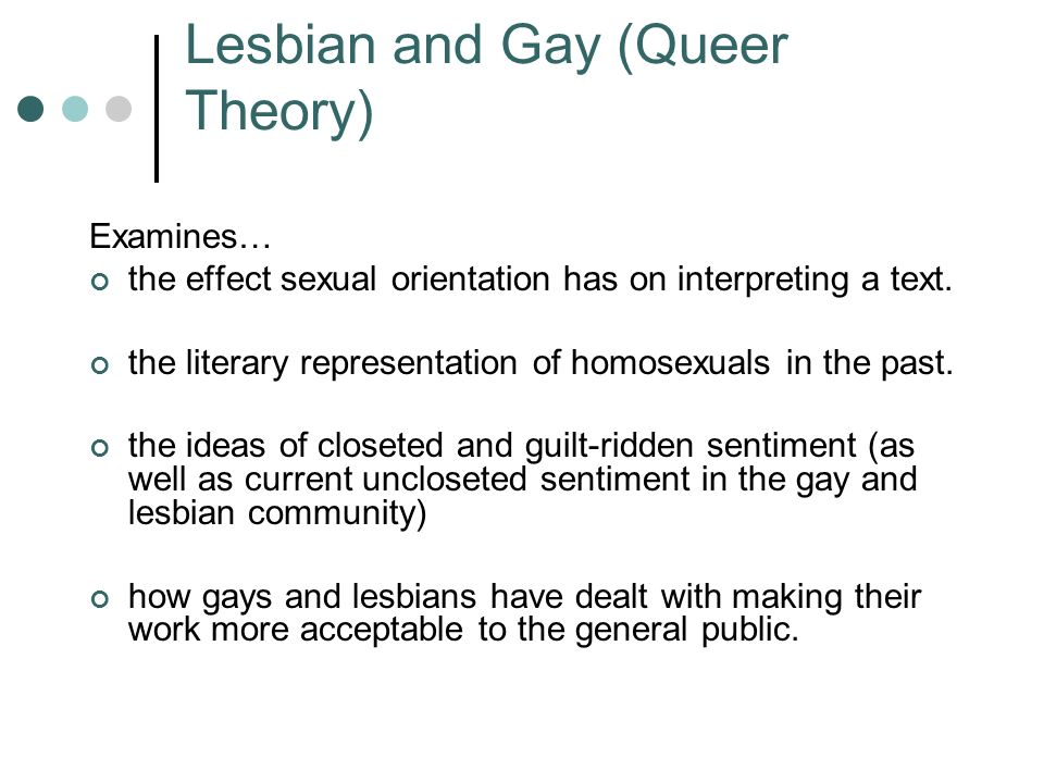 Lesbian and Gay (Queer Theory)