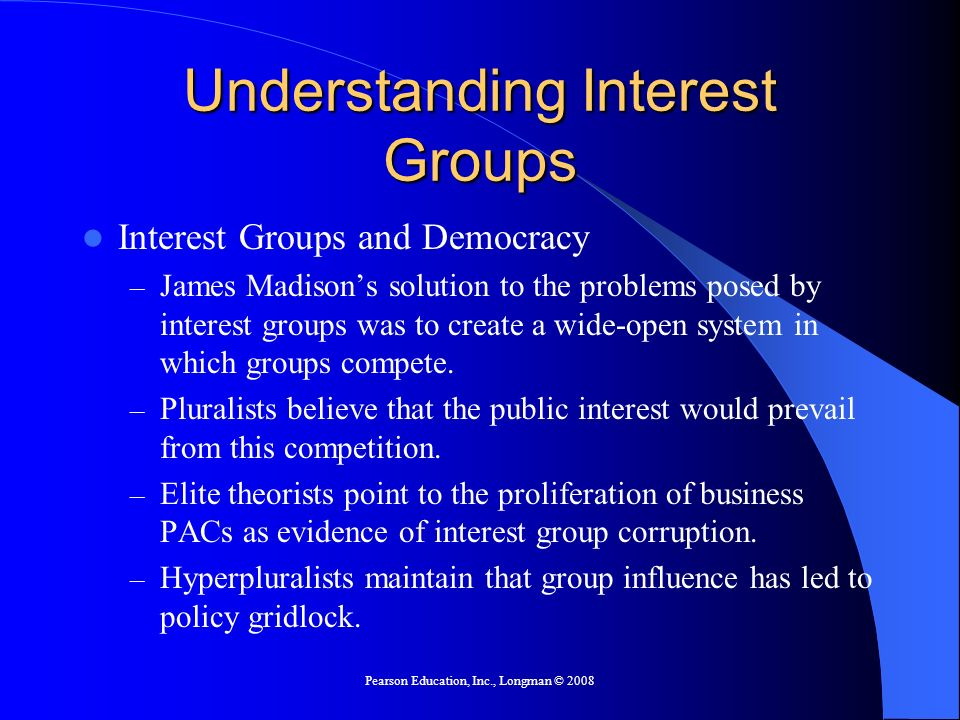 Understanding Interest Groups