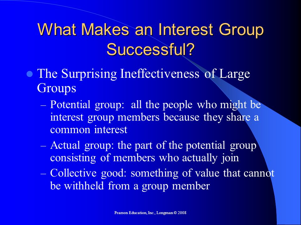 What Makes an Interest Group Successful