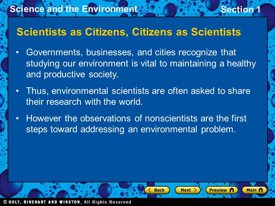 Scientists as Citizens, Citizens as Scientists