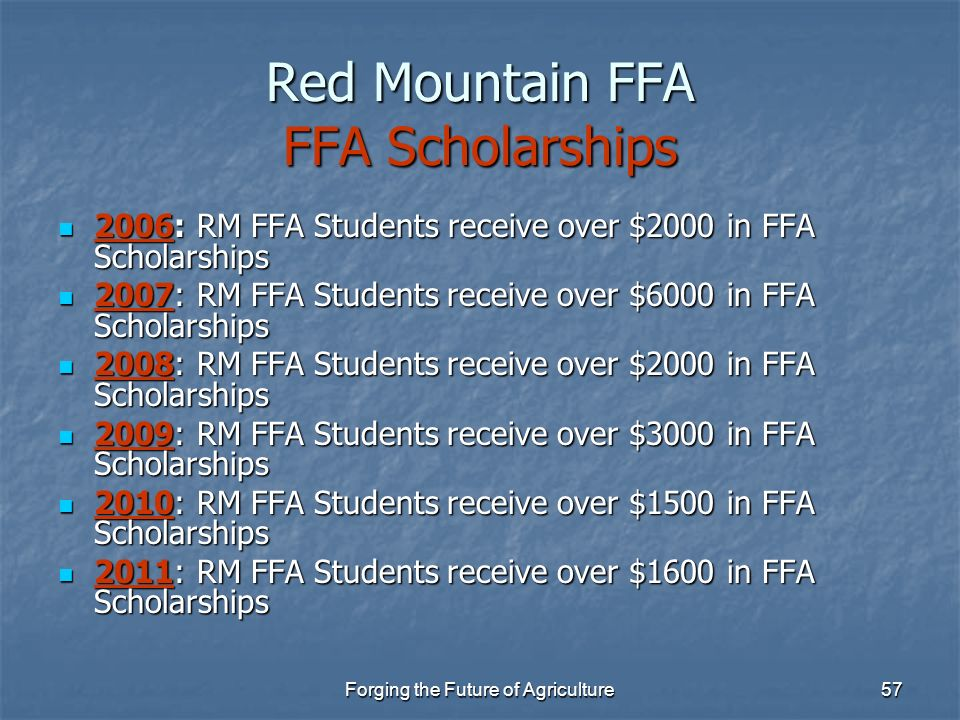 Red Mountain FFA FFA Scholarships